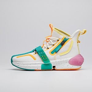 "2020 Dragon Ball Super ""Gotenks"" Lovers Anta Basketball Culture Sneakers - White/Green/Yellow"