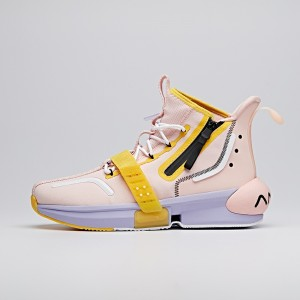 "2020 Dragon Ball Super ""Majin Buu"" Lovers Anta Basketball Culture Sneakers - Pink/Yellow/Black"