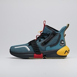 "2020 Dragon Ball Super ""Trunks"" Lovers Anta Basketball Culture Sneakers - Deep Blue/Yellow/Red/Black"
