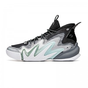 "Anta Men's Shock The Game 4.0 ""Frenzy"" 2020 New Basketball Sneakers - Silver/Gray/Black"