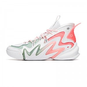 "Anta Men's Shock The Game 4.0 ""Frenzy"" 2020 New Basketball Sneakers - White/Pink"