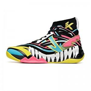 Anta KT6 Disruptive X Marvel VENOM Basketball Sneakers - Black/Yellow/Pink