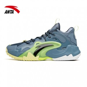Anta 2021 UFO 3.0 Airspace Basketball Shoes - Green/Gray