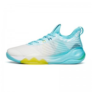 Anta KT6 Klay Thompson 2021 G6 SIX GOD Low Basketball Sneakers - Blue/White/Yellow