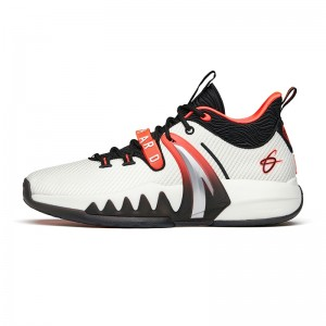 Anta GH2 Gordon Hayward 2021 Winter Men's Low Anta outdoor Basketball Sneakers - White/Black/Red