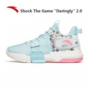 "Anta 2021 Shock The Game ""Daringly"" 2.0 Men's Basketball Shoes - Blue/White"