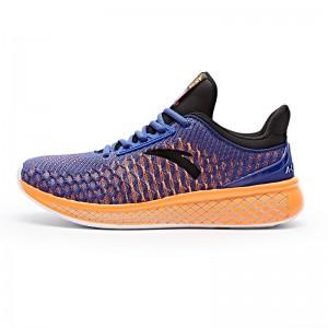 Anta 2017 Men's A-LIVEFOAM Cushioning Running Shoes - Blue/Orange/Black