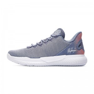 Anta KT 2018 Klay Thompson Men's Basketball Culture Shoes - Grey/Pink/White
