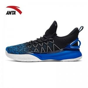 Anta 2018 KT3 Light Klay Thompson NBA Basketball Shoes - Black/Blue