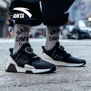 Anta 2018 Winter New Men's Cushioning Fashion Casual Shoes - Black/White