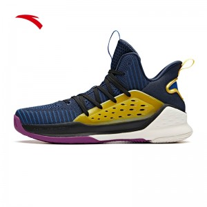 Anta 2019 KT4 Klay Thompson Splash Men's Basketball Shoes - Blue/Yellow