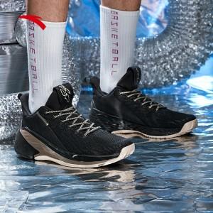 "Anta KT4 Klay Thompson Final Low ""Road"" Basketball Shoes - Black/Gold"