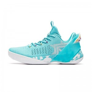 2019 Summer Anta Klay Thompson Shock The game 3.0 Low Basketball Shoes - Light Blue