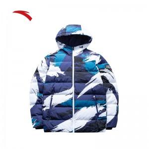 Anta KT6 Klay Thompson Men's Fashion Down Jacket - Bluel/White