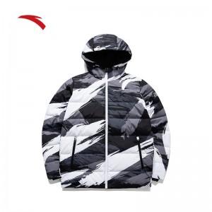 Anta KT6 Klay Thompson Men's Fashion Down Jacket - Black/White