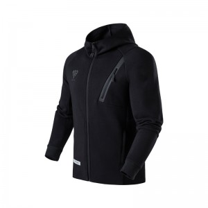 Anta 2018 MP Manny Pacquiao Full Zip Slim Fit Hoodie - Black