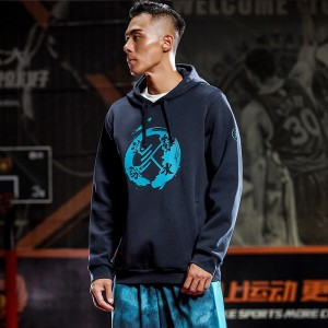 "Anta KT Klay Thompson ""Still Waters Run Deep"" Basketball Culture Hoodie - Blue"