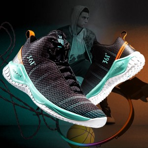 361 Degree Sport Jimmer Fredette High Tops Men's Basketball Shoes - Black/Blue | 2018 Fall release