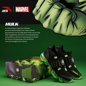 "Anta X Marvel ""HULK"" Running Shoes Anta SEEED Running Sneakers"