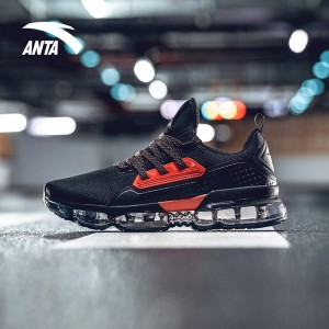 Anta X NASA INSIGHT Air Cushion Running Shoes - Black/Red | Anta SEEED Running Sneakers