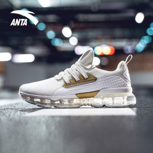 Anta X NASA INSIGHT Air Cushion Running Shoes - White/Gold | Anta SEEED Running Sneakers