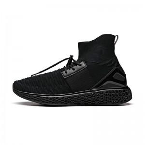 Anta 2018 Winter Wormhole Men's Sock-Like Running Shoes - Black