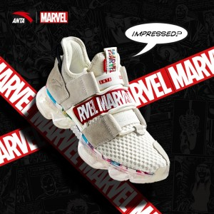 2019 New Anta x Marvel Avenger SEEED Men's Running Sneakers - White/Red/White