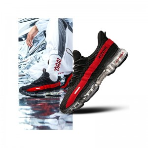 Anta X SEEED 2019 Spring New Men's Air Cushion Running Shoes NASA Casual Sneakers - Black/Red
