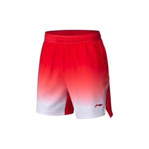 Li-Ning 2018 BWF World Badminton Championships Men's National Team Game Shorts - Red [AAPN005-1]