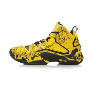 CBA X Li-Ning Glenn Robinson III Power 2 Basketball Shoes - Bright Yellow/Black