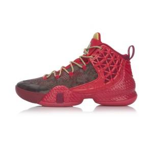 Li-Ning 2017 Power III Plus Cushioning Professional Basketball shoes - Red