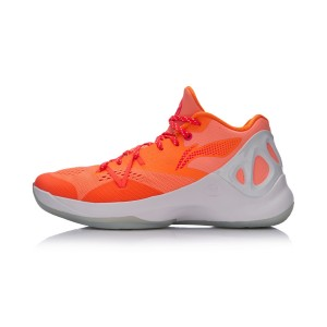 Li-Ning 2017 New Sonic V Low Men's Professional Basketball Shoes - Orange/Red/White