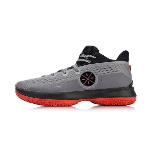 2018 Li-Ning Wade The Sixth Man Men's Mid Cushioned Basketball Sneakers - Grey/Red [ABAN023-2]