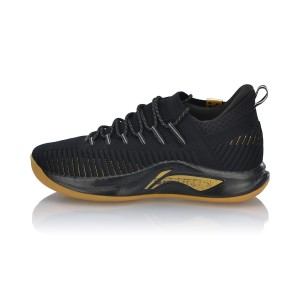 Li-Ning 2019 Spring New Speed V PLAYOFF Men's Professional Basketball Shoes - Black/Gold