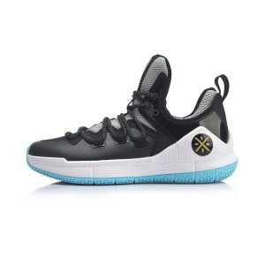 Way of Wade Sixth Man 2019 Men's Low Professional Basketball Match Shoes - Black/Gray/Blue