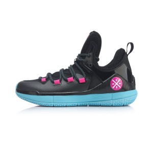 Way of Wade Sixth Man 2019 Men's Low Professional Basketball Match Shoes - Black/Blue/Pink