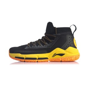 Li-Ning 2019 New Way of Wade Fission V Professinal Basketball Game Shoes - Black/Orange