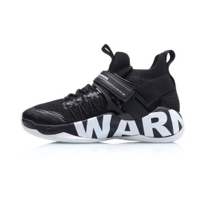 Li Ning 2019 New Warning Men's Sock-Like Professional Basketball Shoes - Black