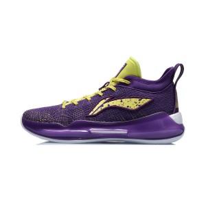 Li-Ning 2020 YUSHUAI XIII 13 BOOM Low Men's Professional Basketball Game Sneakers - Purple/Yellow