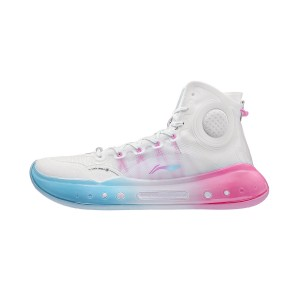 "Li-Ning 2021 YUSHUAI XIV 14 BOOM ""Miami Nights"" Men's Professional Basketball Competition Sneakers - White"