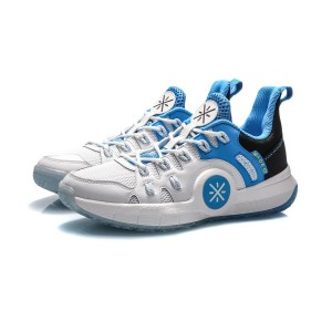 Li-Ning Wade 2020 Spring Men's Mid top Professional Basketball Game Sneakers - White/Blue/Black