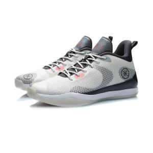 2020 Li-Ning Wade Professional Men's Basketball Game Shoes - White/Black