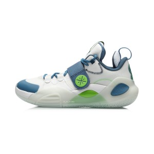 """Way of Wade 2020 ALL CITY 8 Russell """"Home"""" Basketball Sneakers - White/Blue"""