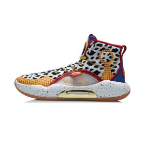 Disney TOY Story X Li-Ning Yushuai XIV Men's High Top Basketball Game Shoes - White/Red/Blue