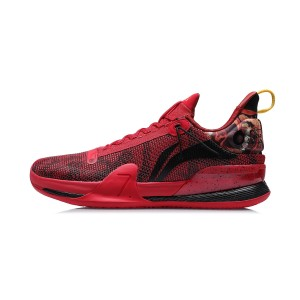 Li-Ning 2020 SPEED VII Premium Men's Professional Basketball Competition Sneakers - Red/Black