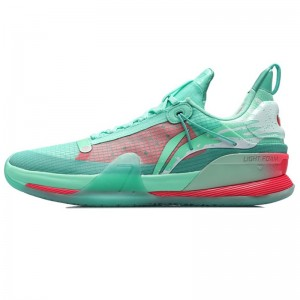 Li-Ning 2021 SPEED VII Premium Summer Men's Professional Basketball Competition Sneakers - Pink/Green