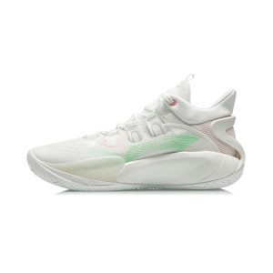 Li-Ning 2021 Sonic 9 Low Men's Professional Basketball Sneakers - Cream