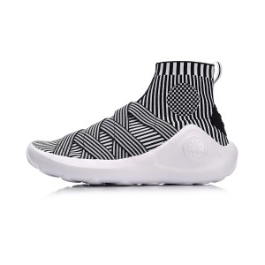 2018 Li-Ning Wade X Essence High Top Men's Stylish Basketball Culture Shoes - White/Black [ABCM067-10]