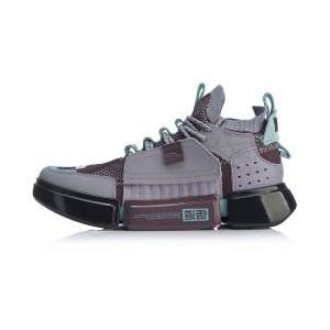 Paris Fashion Week China Li-Ning Essence ACE Men's Basketball Culture Shoes- Purple/Gray/Blue