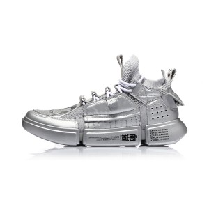 Paris Fashion Week Women's Li-Ning Essence ACE Basketball Culture Sneakers - Silver Grey